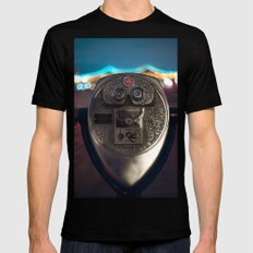 Night Owl SMALL Black Mens Fitted Tee