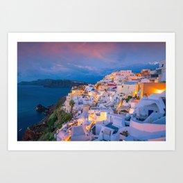 Santorini 22 Art Print