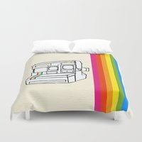 polaroid Duvet Covers featuring Polaroid  by GetNaked