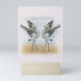 Dancing Cranes Mini Art Print