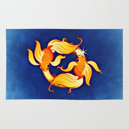 Zodiac_Sign_Fish Rug