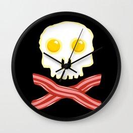 Bacon & Eggs - Vegan Zombie Wall Clock