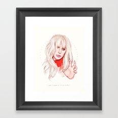 Billboard Woman of the Year Framed Art Print