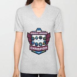 Indigo League Champion - Blue Version Unisex V-Neck