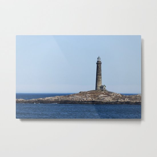 North Lighthouse Tower Thacher Island Metal Print
