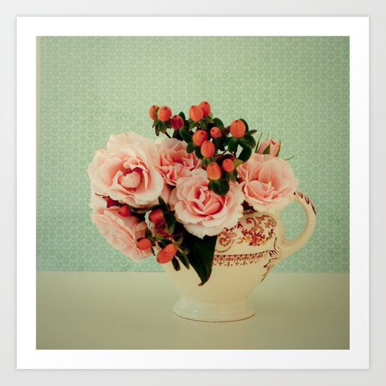 Little Pink Roses Art Print