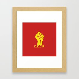 CCCP Fist Framed Art Print