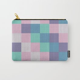 Abstract square pastel geometry Carry-All Pouch