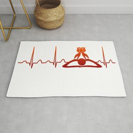 Massage Therapist Heartbeat Rug