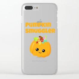 Pumpkin Smuggler Clear iPhone Case