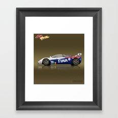 1996 McLaren F1 GTR #17R FINA Framed Art Print