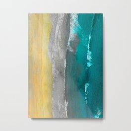 Watercolour Summer beach II Metal Print