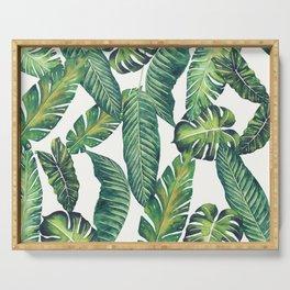 Jungle Leaves, Banana, Monstera II #society6 Serving Tray