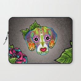 Beagle - Day of the Dead Sugar Skull Dog Laptop Sleeve
