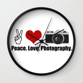 Love Photography Wall Clock