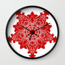 Tibetan Filigree v2 Wall Clock