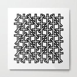 Geometric pattern 0206 1a Metal Print