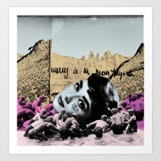 Audrey Hepburn à la montagne Art Print