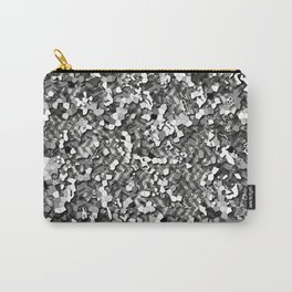 Realistic Urban Gray 3D Camo Pattern Carry-All Pouch