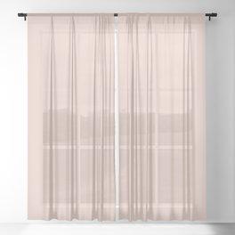 Vintage Rose Dusty Pink Linen Colour Blocks Solid Matte Sheer Curtain