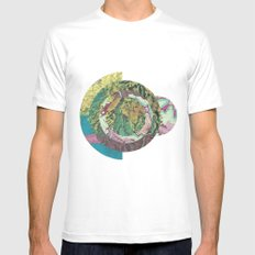 Topography Mens Fitted Tee MEDIUM White