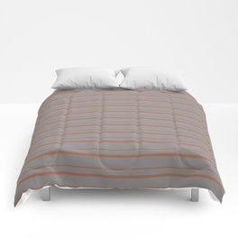 Cavern Clay Warm Terra Cotta SW 7701 Horizontal Line Patterns 3 on Slate Violet Gray Comforters