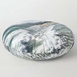 Mountains and Waves Floor Pillow
