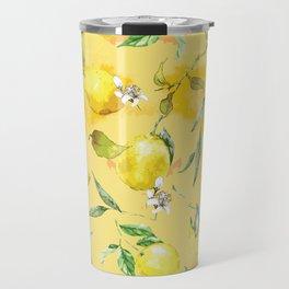 Watercolor lemons 5 Travel Mug