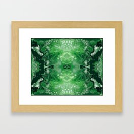 Green Digital Fluid Acrylic Art Print Framed Art Print