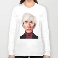 celebrity Long Sleeve T-shirts featuring Celebrity Sunday ~ Andy Warhola by rob art | illustration