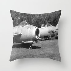 vintage planes Throw Pillow