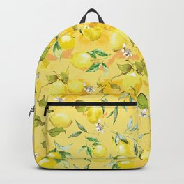 Watercolor lemons 5 Backpack