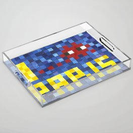 I Space Invader Paris Acrylic Tray