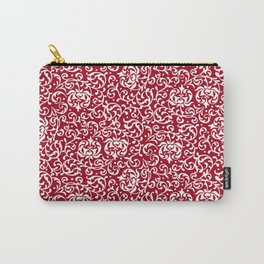 Christmas Red Tudor Damask Carry-All Pouch