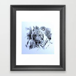 Animals and Art - Tiger Framed Art Print