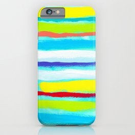 Ocean Blue Summer blue abstract painting stripes pattern beach tropical holiday california hawaii iPhone Case