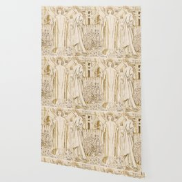 "Edward Burne-Jones ""Chaucer's 'Legend of Good Women' - Amor and Alcestis"" Wallpaper"