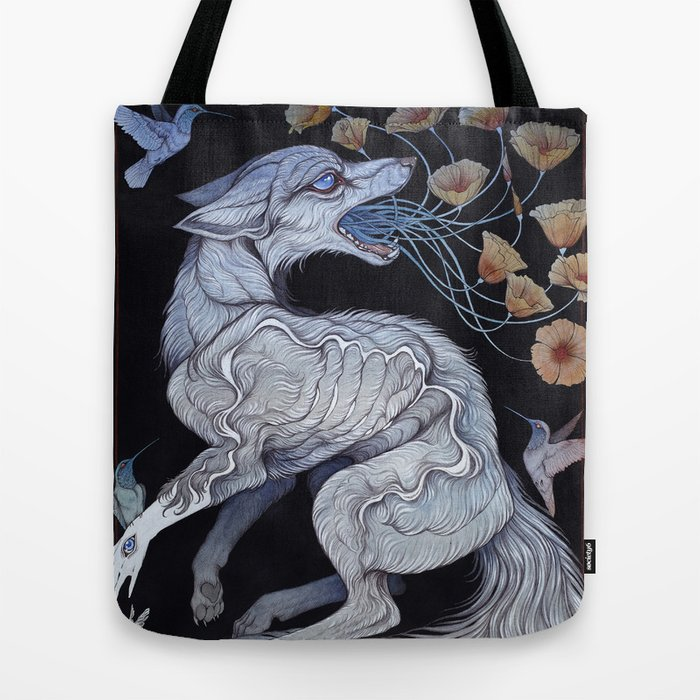 Fox & Poppies Tote Bag