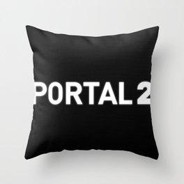 Portal 2 Gaming Art Piece Throw Pillow
