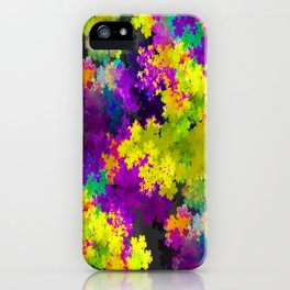Floral Print Dress purple and yellow iPhone Case