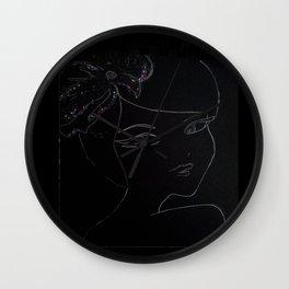 black flower Wall Clock