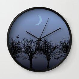 4 Trees Wall Clock