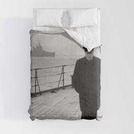 Winston Churchill At Sea Comforters