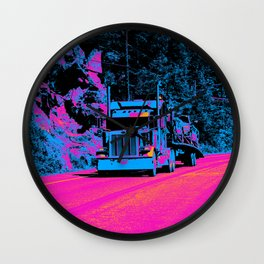 Big Rig Highway Hauler Wall Clock