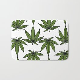 Pot Leaves Bath Mat