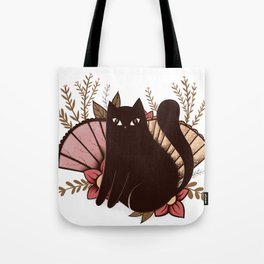 Japanese Kitty Tote Bag