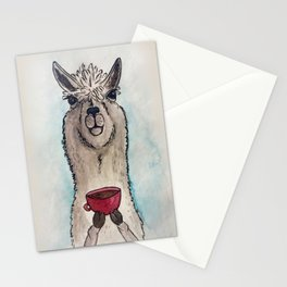 Just a Llama & His Latte Stationery Cards