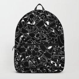 Chess Pattern BLACK Backpack