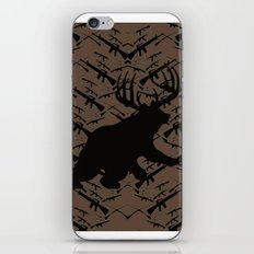 Bear with Buck Horns iPhone & iPod Skin