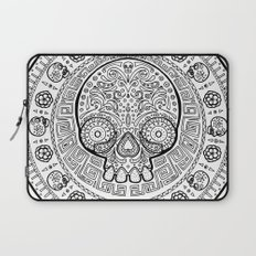 Skull mexican art from the Path to Mictlan Laptop Sleeve